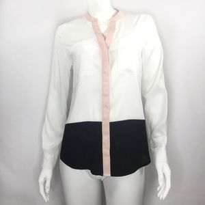 Ivanka Trump Size Small Color Block Polyester Top